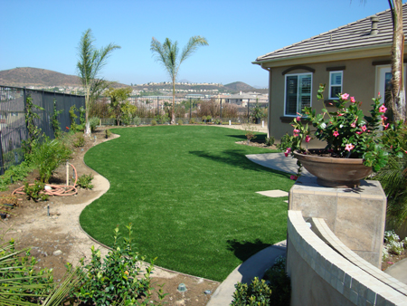 Photos artificial grass artificial turf synthetic grass los this artificial grass will look even better when the landscaping around it grows in new construction workwithnaturefo